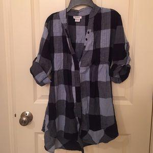 Blue checker shirt